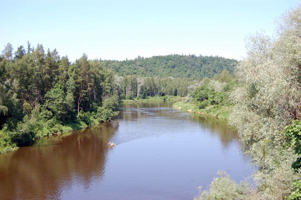 Вид на реку Гауя / Фото из Латвии