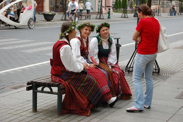 На проспекте Гедеминаса, Вильнюс / Фото из Латвии