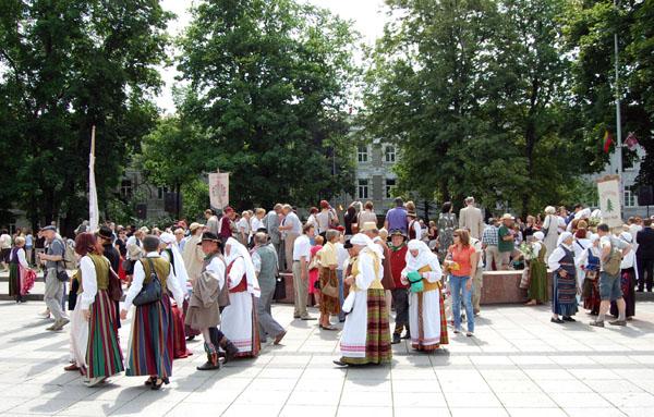 Рядом с кафедральным собором, Вильнюс / Фото из Латвии