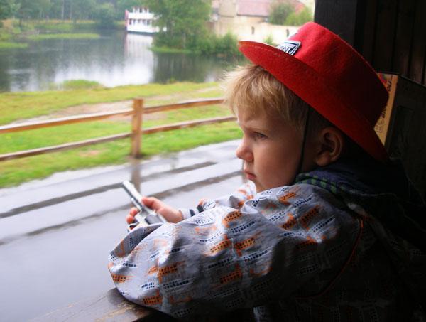 Пассажиры поезда решили проявить бдительность, парк развлечений High Chaparral  / Фото из Швеции