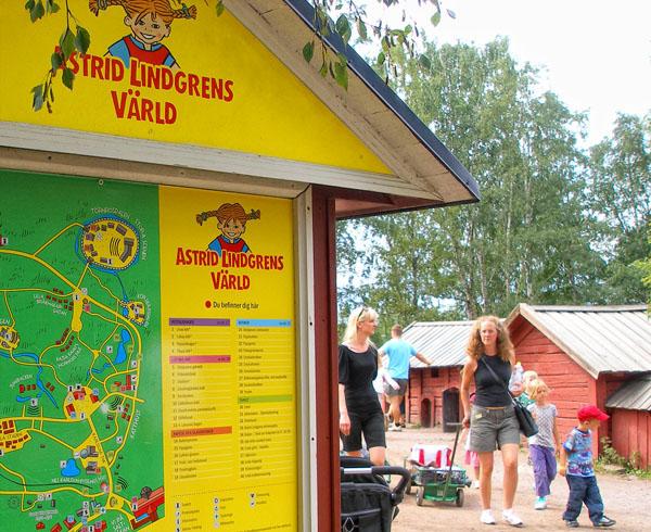 Парк Астрид Линдгрен посвящен нескольким сказкам писательницы / Фото из Швеции