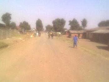 Центральный проспект городка Бунагана / Конго (бывш. Заир)