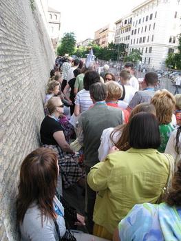 Затор на входе / Ватикан