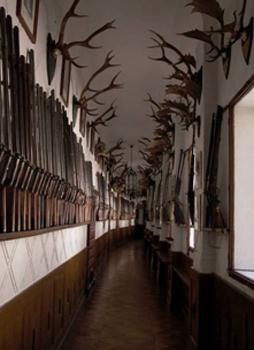 Охотничьи трофеи в замке / Чехия