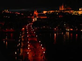 Вид с башни Карлова моста / Чехия