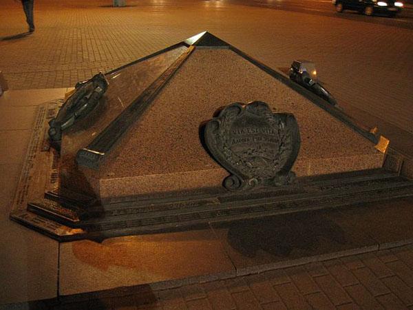 Нулевой километр на Октябрьской площади, Минск / Фото из Белоруссии