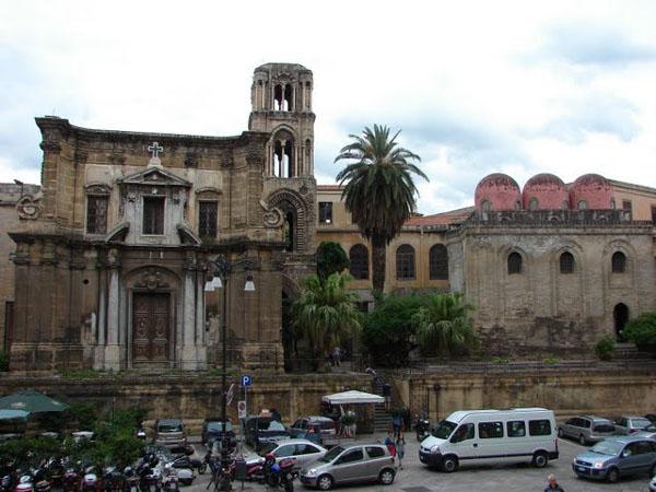 Вид на собор Сан-Катальдо, Палермо / Фото из Италии