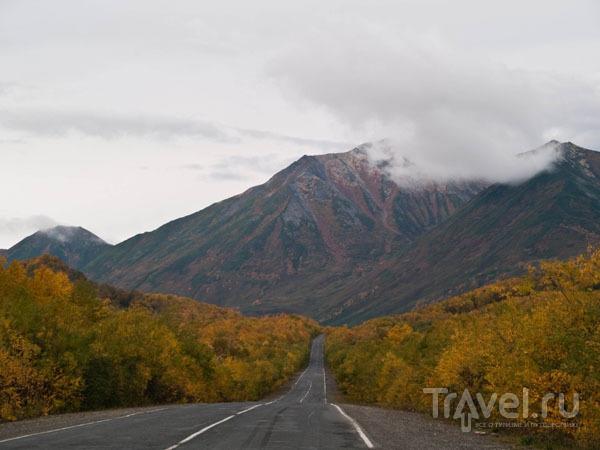 Асфальтовая дорога от Елизово к вулкану Вачкажец / Фото из России