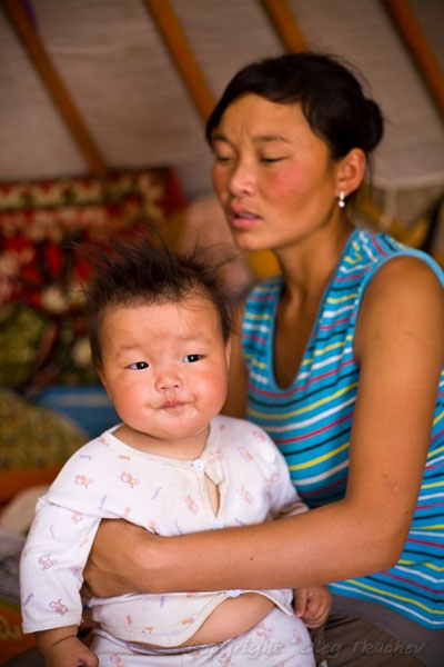 Семья кочевников в Монголии / Фото из Монголии