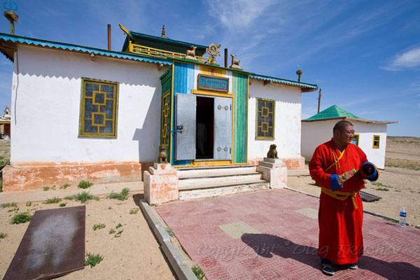 Действующая гомпа в монастыре Хамарин-Хид, Монголия / Фото из Монголии