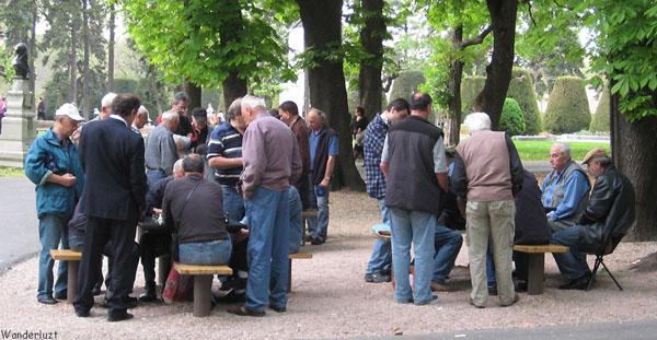 Шахматы в городском парке Белграда, Сербия / Фото из Сербии