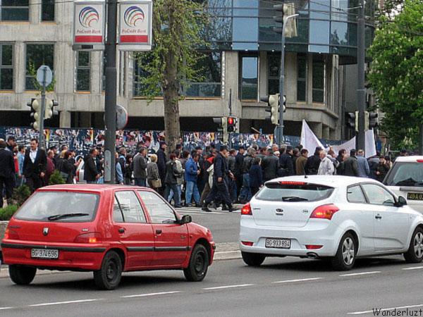 Демонстрация на улицах Белграда / Фото из Сербии
