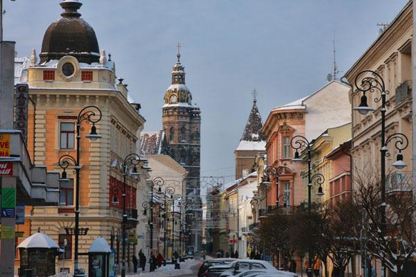 Главная улица - исторический центр Кошице / Фото из Словакии