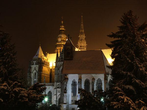 Достопримечательности Главной улицы вечером, Кошице / Фото из Словакии