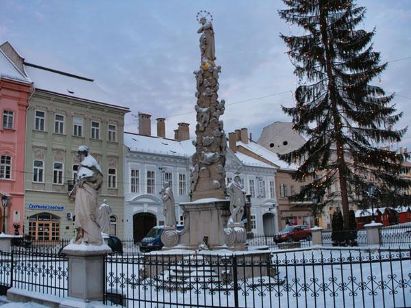 Чумная колонна с Девой Марией, Кошице / Фото из Словакии