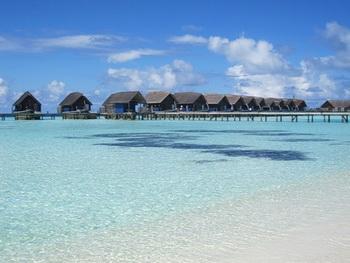Домики на воде / Мальдивы