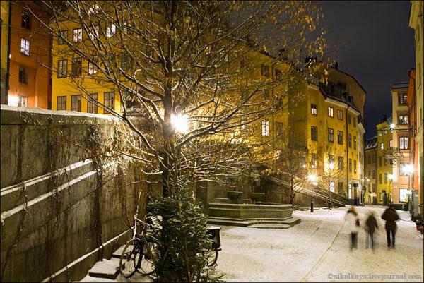 Зима в Стокгольме - столице Швеции / Фото из Швеции