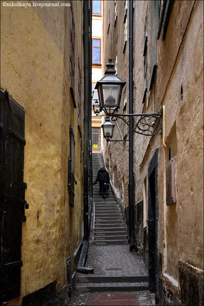 Одна из узких улиц Гамла-Стана в Стокгольме / Фото из Швеции