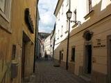 Вот она, наша гостиница. Вдалеке виден Братиславский град. / Словакия