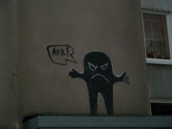 Граффити в центре Лиепаи / Фото из Латвии