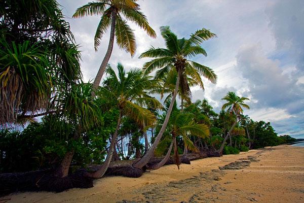 Фонгафале - самый большой остров атолла Фунафути, Тувалу / Фото из Вануату