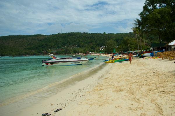 Пляж с противоположной стороны от пристани, Пхипхи-Дон / Фото из Таиланда
