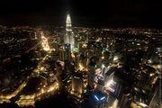 Вид на Petronas с телебашни / Малайзия
