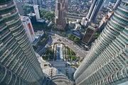 Вид с башен вниз / Малайзия