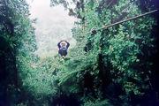Полет над джунглями на склонах вулкана Ареналь / Коста-Рика