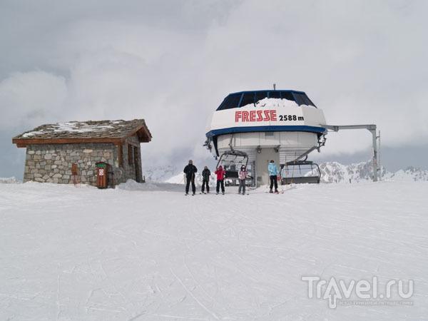Подъемник Fresse поднимает лыжников в зону Ski Tranquille / Фото из Франции
