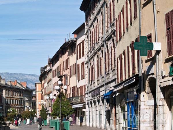Центральная пешеходная улица в Шамбери / Фото из Франции