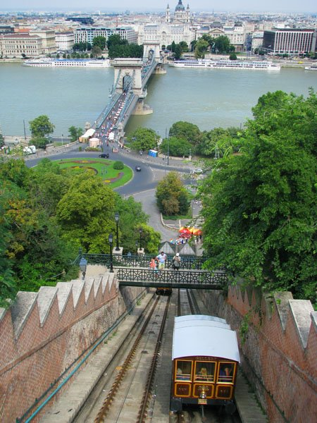 Фуникулер к будайскому крепостному холму, Будапешт / Фото из Венгрии