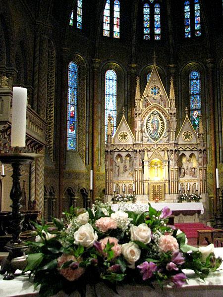 В церкви Святого Матьяша, Буда / Фото из Венгрии