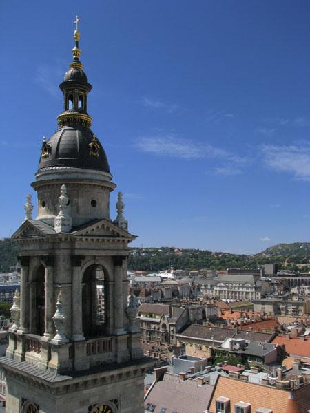 Вид с купола базилики Святого Иштвана, Будапешт / Фото из Венгрии