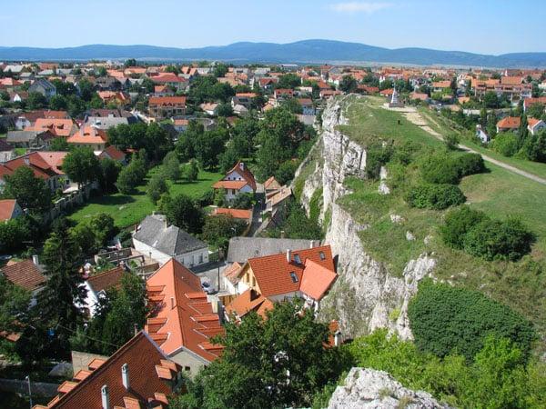 Вид с крепостного холма, Веспрем / Фото из Венгрии