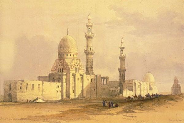Комплексы Куркумыса и Инала на картине Дэвида Робертса начала XIX века / Фото из Египта
