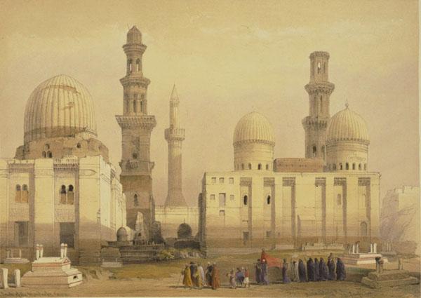 Южное кладбище на картине Дэвида Робертса начала XIX века / Фото из Египта