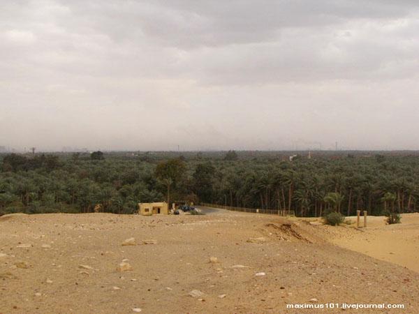 Вид из некрополя Саккары в сторону Нила / Фото из Египта