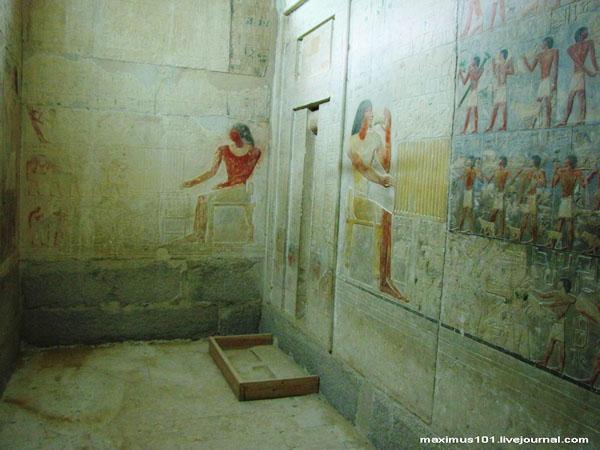 Барельефы из мастабы еще одного сановника V династии - Птаххотепа, Саккара / Фото из Египта