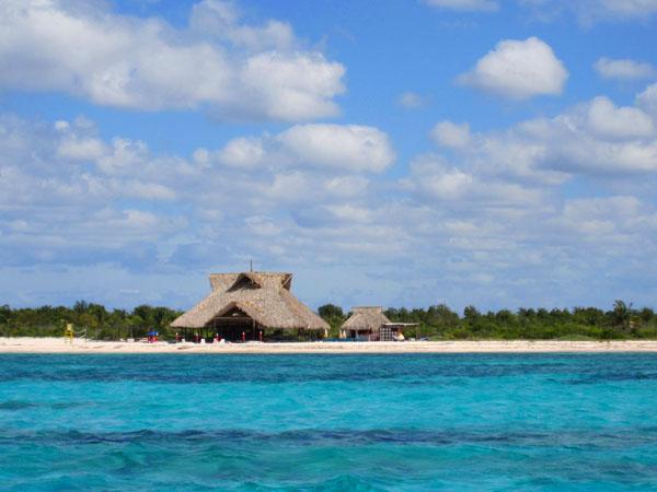 Берег острова в национальном парке, недалеко от острова Косумель / Фото из Мексики
