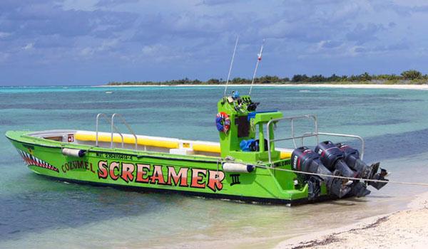 Прогулочный катер для туристов острова Косумель / Фото из Мексики