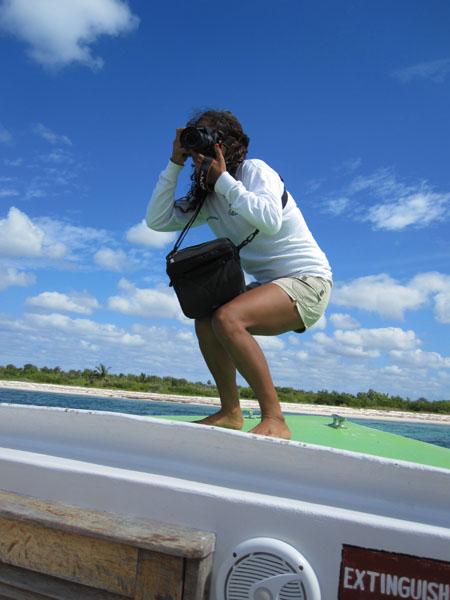 """""""На борту"""" катера у острова Косумель / Фото из Мексики"""