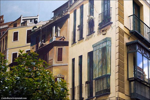 Дом с нарисованной стеной, Мадрид / Фото из Испании
