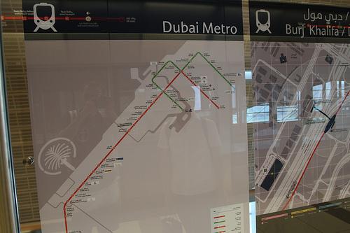 """Метро в Дубае было торжественно открыто в  """"круглую """" дату: 09.09.09.  Но для публики его двери открылись только на..."""
