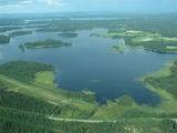 Озеро с высоты птичьего полета / Финляндия
