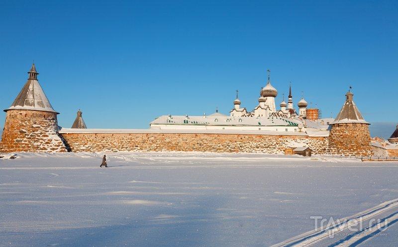 Соловецкий монастырь зимой