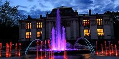 Свето-музыкальный фонтан - новая достопримечательность Кракова.