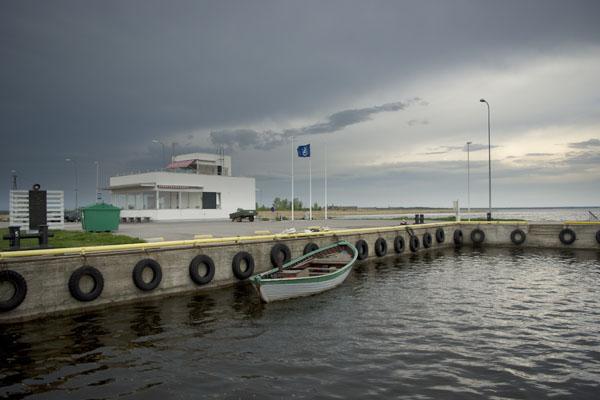 Вид на причал порта Муналайд / Фото из Эстонии