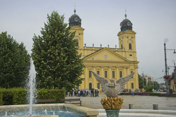 На площади перед Большой церковью, Дебрецен / Фото из Венгрии