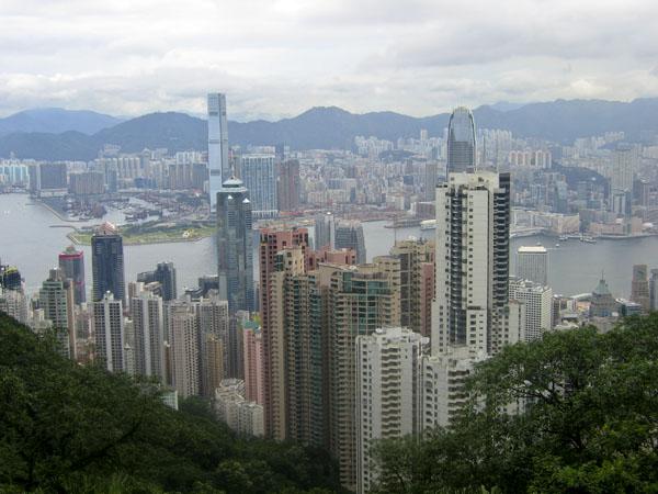 Вид на Гонконг с пика Виктория / Фото из Гонконга